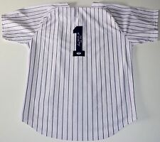 "GEORGE STEINBRENNER YANKEES SIGNED ""THE BOSS"" HOME PINSTRIPE JERSEY PSA COA"