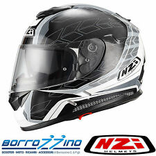 CASCO NZI SYMBIO DUO GRAPHICS GREY ANTRACITE - DOPPIA VISIERA TG. XL 59 cm