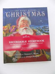 """Hallmark's """"The Night Before Christmas"""" Recordable Storybook 2009 New Vintage"""