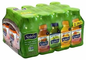 Naked Juice NON GMO Made in USA Strawberry Banana Berry Mango Greens Breakfast