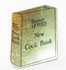 Better Homes & Gardens New Cook Book Advertising Premium Cardboard Gold Foil