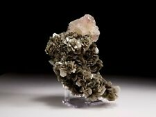 Pink Fluorite & Muscovite Crystal Cluster from Pakistan