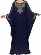 NAVY BLUE COLOUR MODERN ARABIC MOROCCAN WEDDING GOWN FOR WOMEN DESIGN DRESS