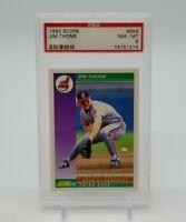 1992 Score JIM THOME Rookie Prospect RC PSA 8 NM-MT #859 Cleveland Indians HOF