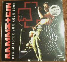 """RAMMSTEIN """"DER MEISTER VON KOLN 1996"""" WHITE MARBLE LP LIVE BIZARRE FESTIVAL 1996"""