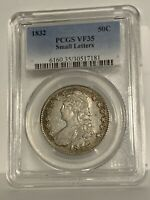 1832 BUST HALF DOLLAR, SMALL LETTERS, PCGS-35