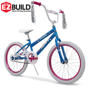20-Inch Durable Steel Sea Star Girls' Bike with Comfortable Grips Blue and Pink