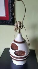 RARE 1960's EPIC vintage pottery lamp mid century mod GROOVY perfect