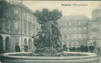 Ansichtskarte Mannheim Schlossbrunnen 1908 (Nr.9632)