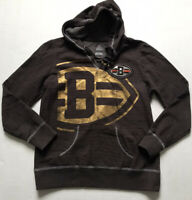 Cleveland Browns NFL Women's Sz L Hoodie Pullover Majestic Metallic Brown