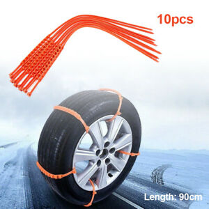 10Pcs Snow Tire Chain Anti-skid For Car Truck Wheel Tyre Tire Cable Ties 22in