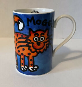 Dunoon FUNNY FARM MOGGIE MUG Jane Brookshaw Purr Purr Cat Scotland Stoneware