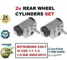 FOR MITSUBISHI COLT VI CZC 1.1 1.3 1.5 DiD 2004-2012 2x REAR WHEEL CYLINDERS SET