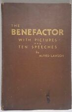 The Benefactor By Alfred Lawson Lawsonomy Oversized Hard to Find Vintage Book
