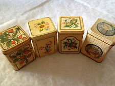 set of 4 Decorative Princeton Industries Corp. Tins
