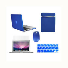 """5in1 Rubberized ROYAL BLUE Case for Macbook PRO 13"""" +Key Cover + LCD + Bag+Mouse"""