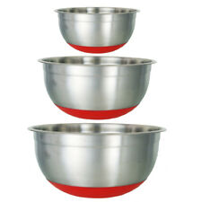 25CM BUCKINGHAM STAINLESS STEEL MIXING BOWL WITH NON SLIP SILICON BASE PREMIUM