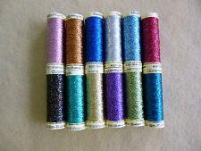 Gutermann Metallic / Glitter Thread 12 colours to choose from  / 50 mt reel