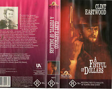 A FISTFUL OF DOLLARS - Clint Eastwood - VHS - PAL - NEW & SEALED - Never played!