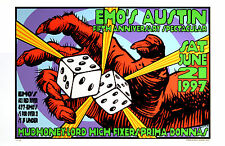 Mudhoney Prima Donnas 1997 Emo's Austin Original Concert Poster Frank Kozik S/N