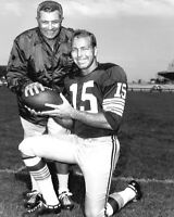 Green Bay Packers VINCE LOMBARDI & BART STARR Glossy 8x10 Photo Football Print