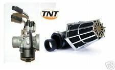 CARBURATEUR Carbu  + Filtre Cornet 90° Chrome/Noir SCOOTER 50cc 17,5