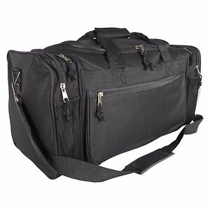DALIX Brand New Duffle Bag Sports Duffel Bag in Black Gym Bag