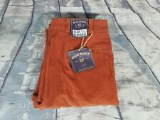 NWT $164 Bills Khakis USA M2 H11C Mens Burnt Orange Corduroy Cotton Pants Sz 33