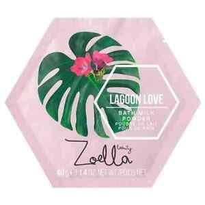 Zoella Lagoon Love Bath Milk Powder Hydrating Coconut & Radiance-Boosting Lychee