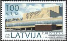 Letonia 859 (completa.edición.) nuevo con goma original 2013 Arquitectura
