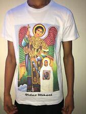 "Ethiopian Orthodox ""Qidus Mikael "" Icon T-shirts White ""Size L"""