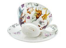 More details for mad hatter tea cup and saucer set / fine china / 210 ml (7 fl oz)