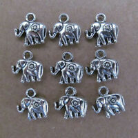 20pc Tibet Silver Charm double swing pearl elephant animal parts wholesale PL057