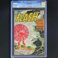 The Flash #110 💥 CGC 7.5 OW-W 💥 1st App of Kid Flash (Wally West)! DC 1959