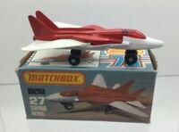 Matchbox Superfast No 27 Swing Wing Red Cockpit Glass - VNMIB