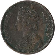 1862 India (British) 1/4 Anna Coin Victoria KM#467