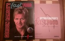 Gordon Ramsay SIGNED Fast Food Recipes from The F Word Hardback Book