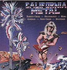 VARIOUS - CALIFORNIA METAL VOL 1 (*NEW-CD, 1987) Longbox Barren Cross Guardian+