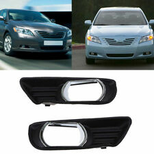 Pair For Toyota Camry 2007-2009 Front Bumper Lower Fog Light Trim Bezel Cover