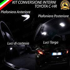 KIT LED INTERNI + LUCI TARGA TOYOTA CHR C-HR KIT DI CONVERSIONE COMPLETA 6000K
