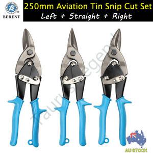 Aviation Snip Metal Sheet Tin Cutter Scissors Left Right Straight 3PC Set