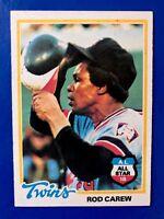 Rod Carew Minnesota Twins 1978 Topps Card #580