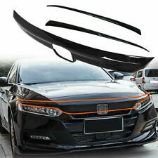ABS Glossy Black Lip Front Grille Cover Moulding Trim For Honda Accord 2018 -20