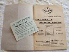 Brochure N-A-M Tout pour la ménagère moderne Ets R. Thierry et Cie 1928-29
