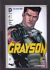 DC COMICS THE NEW 52! GRAYSON #1 2014 SDCC CCI EXCLUSIVE CONVENTION VARIANT
