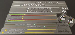 Colnago Master Bicycle Decal Set - White with Black Outline (sku Coln-S101)