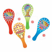 Religious Paddle Ball Games - Toys - 12 Pieces