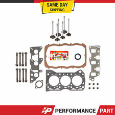 Head Gasket Set Intake Exhaust Valves for 85-88 Chevrolet Sprint Turbo 1.0L G10