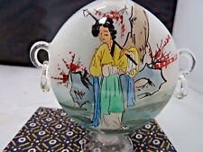 VINTAGE CHINESE SIGNED PEKING GLASS SNUFF BOTTLE REVERSE PAINTING EMPRESS