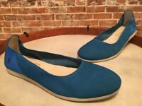 Details about  /Ryka Torrey Blue Suede /& Faux Shearling Mule NEW